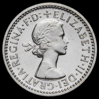 1959 Elizabeth II Silver Maundy Threepence Obverse
