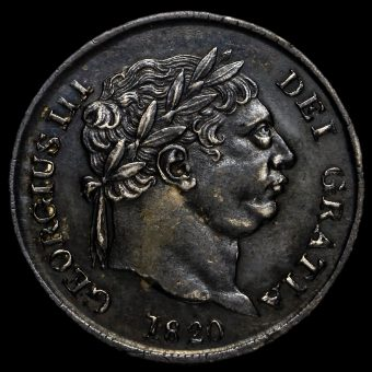 1820 George III Milled Silver Maundy Fourpence Obverse