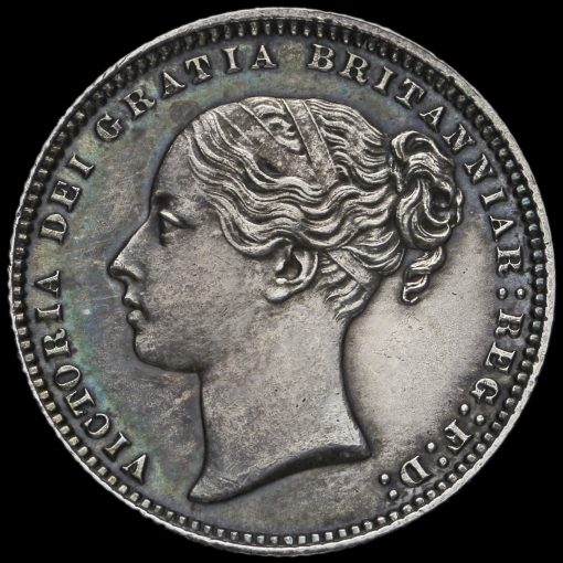 1873 Queen Victoria Young Head Silver Shilling Obverse