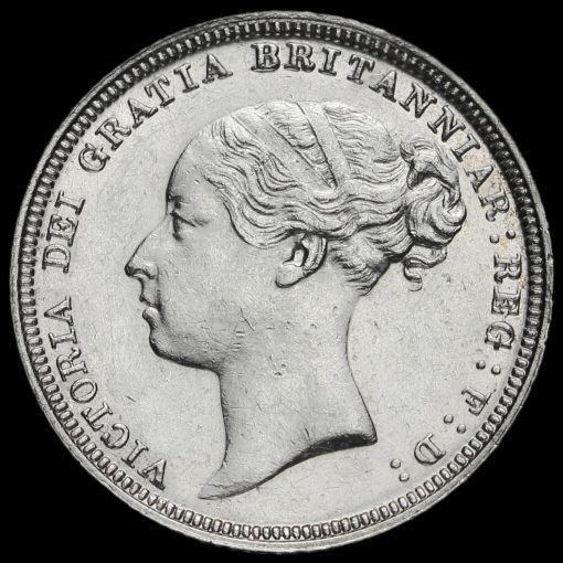1881 Queen Victoria Young Head Silver Sixpence Obverse