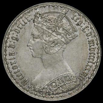 1883 Queen Victoria Gothic Florin Obverse