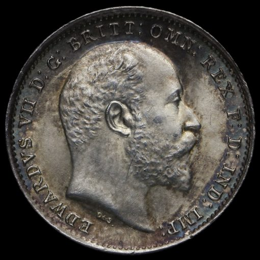 1902 Edward VII Silver Threepence Obverse