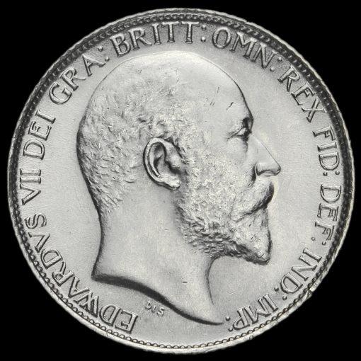 1906 Edward VII Silver Sixpence Obverse