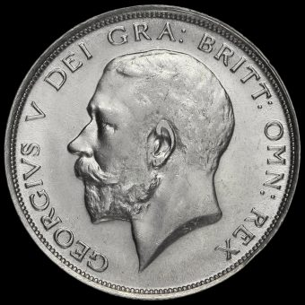 1911 George V Silver Half Crown Obverse
