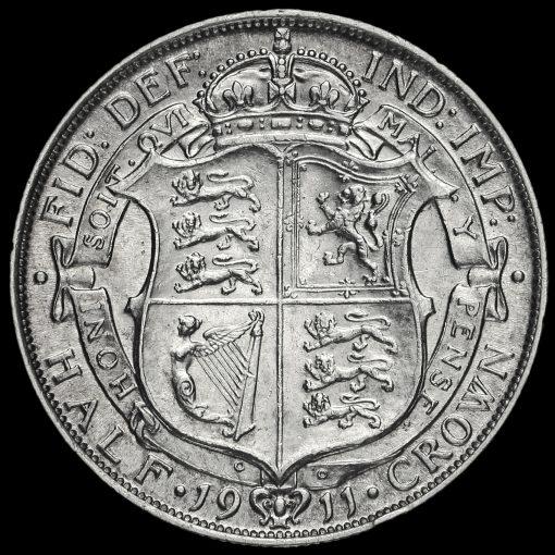 1911 George V Silver Half Crown Reverse