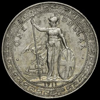 1911 British Trade Dollar Obverse