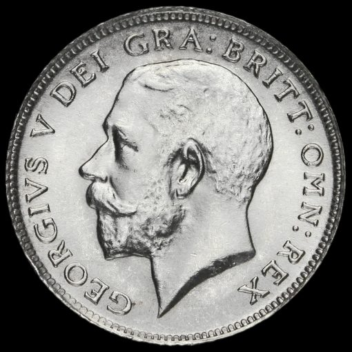 1914 George V Silver Sixpence Obverse