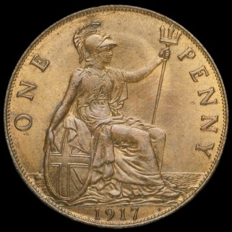 1917 George V Penny Reverse