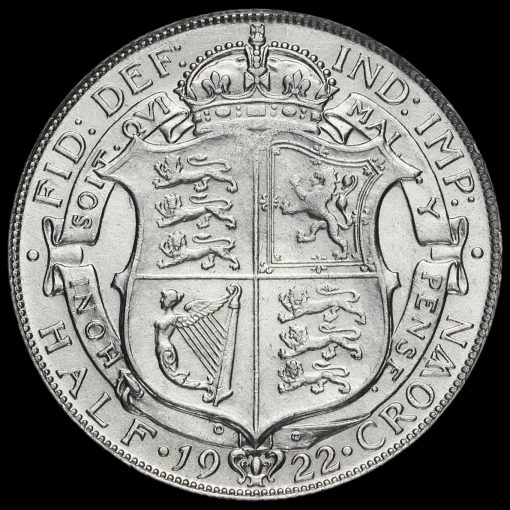 1922 George V Silver Half Crown Reverse