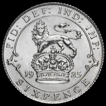 1925 George V Silver Sixpence Reverse