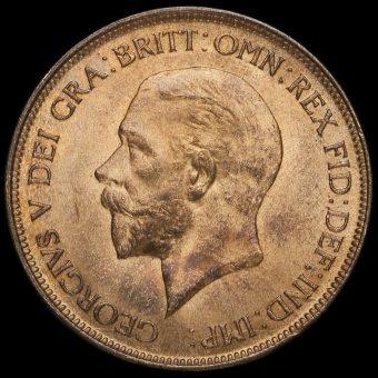 1928 George V Penny Obverse