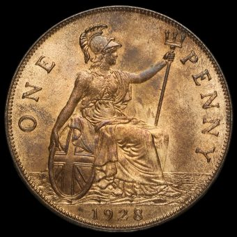 1928 George V Penny Reverse