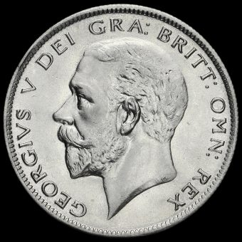 1929 George V Silver Half Crown Obverse