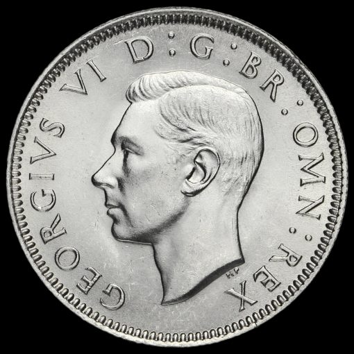 1939 George VI Silver Scottish Shilling Obverse