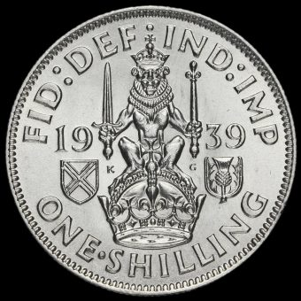 1939 George VI Silver Scottish Shilling Reverse