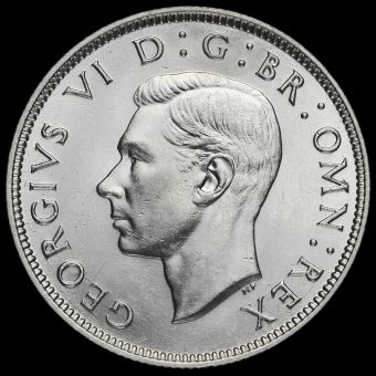 1940 George VI Silver Two Shilling Coin / Florin Obverse