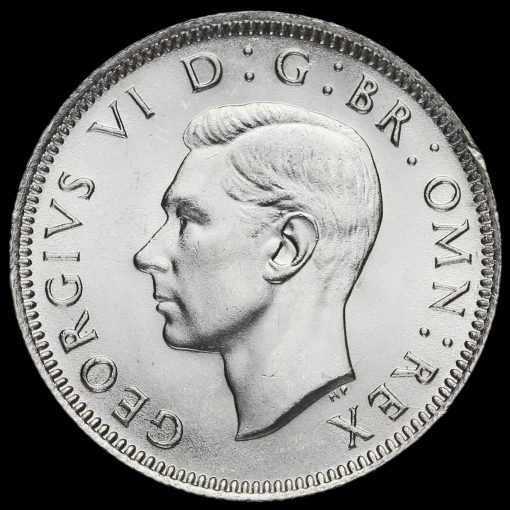 1942 George VI Silver English Shilling Obverse