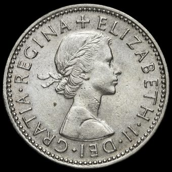 1959 Queen Elizabeth II Scottish Shilling Obverse
