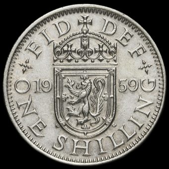 1959 Queen Elizabeth II Scottish Shilling Reverse