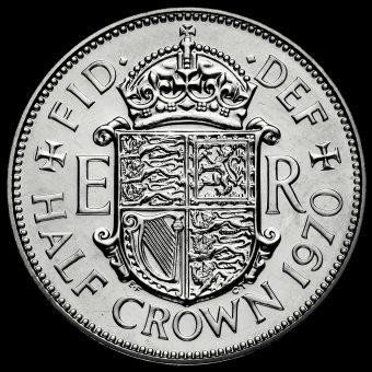 1970 Elizabeth II Proof Half Crown Reverse