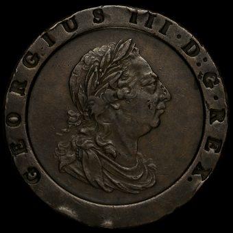 1797 George III Cartwheel Twopence Obverse