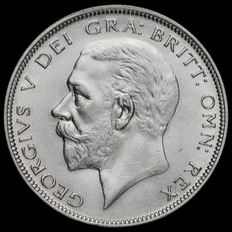 1931 George V Silver Half Crown Obverse