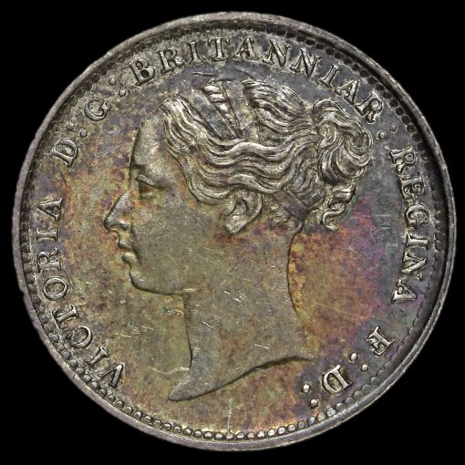 1886 Queen Victoria Young Head Silver Threepence Obverse