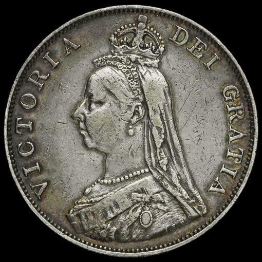 1889 Queen Victoria Jubilee Head Silver Double Florin Obverse