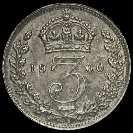 1900 Queen Victoria Veiled Head Silver Threepence Reverse