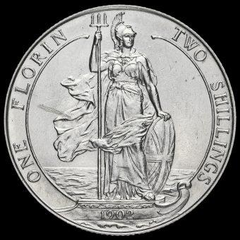 1902 Edward VII Silver Florin Reverse