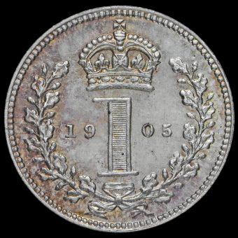 1905 Edward VII Silver Maundy Penny Reverse