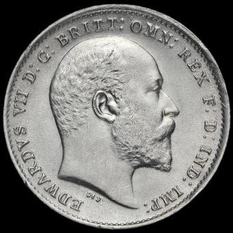 1909 Edward VII Silver Threepence Obverse