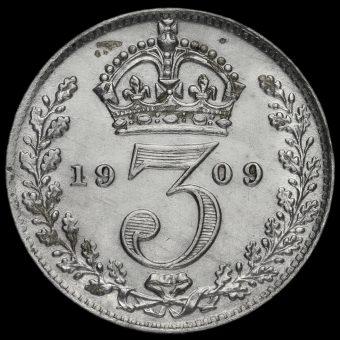 1909 Edward VII Silver Threepence Reverse