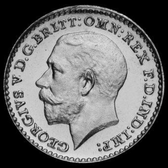 1912 George V Silver Maundy Penny Obverse