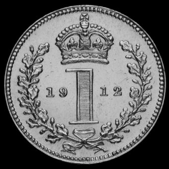 1912 George V Silver Maundy Penny Reverse