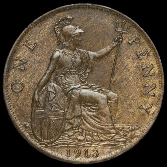 1913 George V Penny Reverse