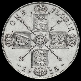 1915 George V Silver Florin Reverse