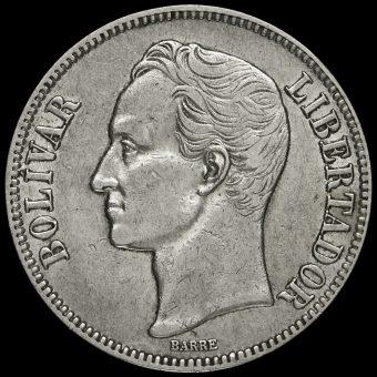 Venezuela 1926 Silver 5 Bolívares Obverse