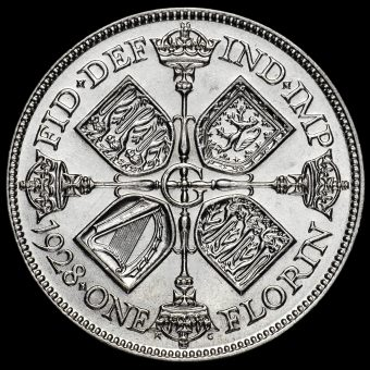1928 George V Silver Florin Reverse