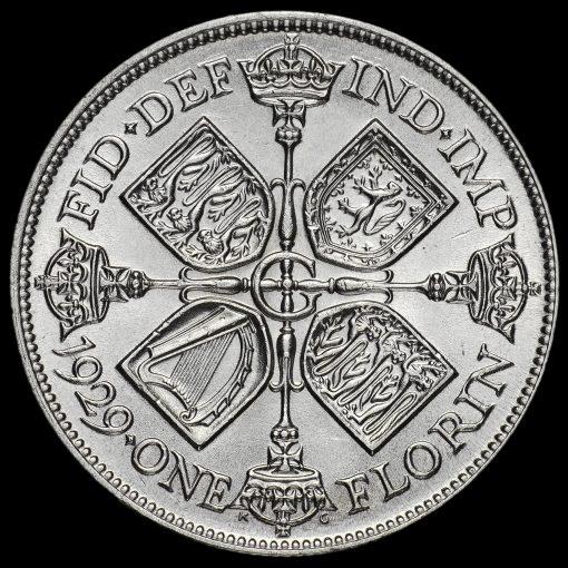 1929 George V Silver Florin Reverse