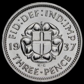 1937 George VI Silver Threepence Reverse