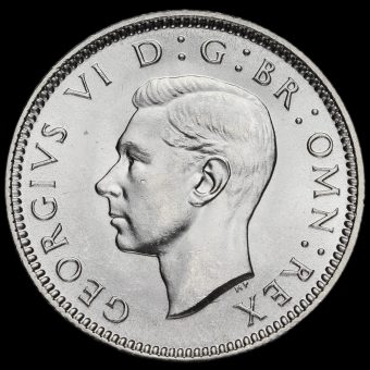 1938 George VI Silver Sixpence Obverse