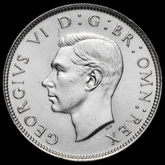 1938 George VI Silver Two Shilling Coin / Florin Obverse