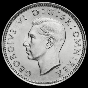 1939 George VI Silver Sixpence Obverse