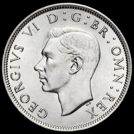 1943 George VI Silver Half Crown Obverse