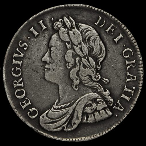 1737 George II Early Milled Silver Maundy Fourpence Obverse