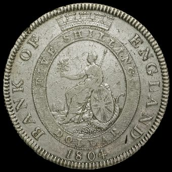 1804 George III Bank of England Issue Silver Dollar Reverse