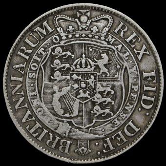 1819 George III Milled Silver Half Crown Reverse