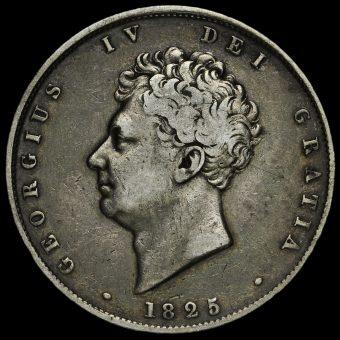 1825 George IV Milled Silver Half Crown Obverse