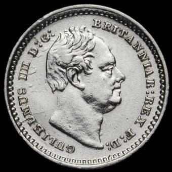 1835 William IV Milled Silver Three-Halfpence Obverse